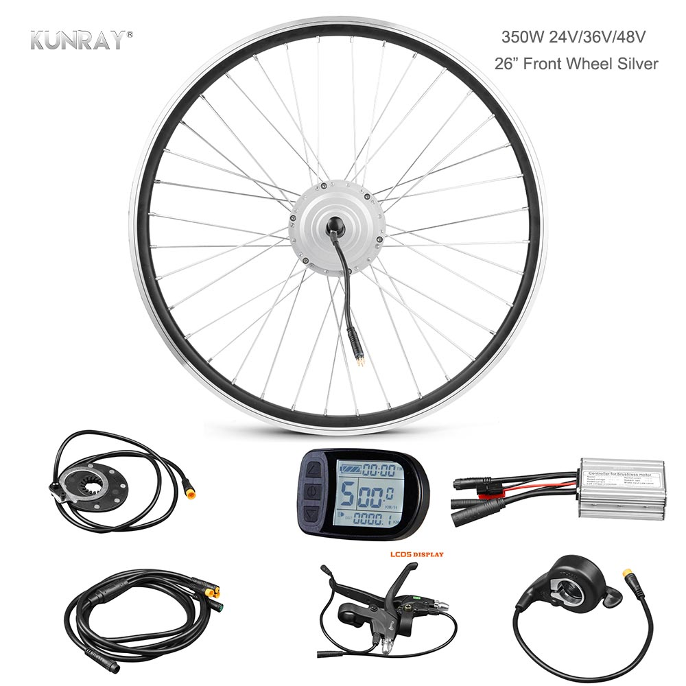 Wuxing 106dx 36vli 48vli Thumb Throttle With On Off Switch And Electric Scooter Wiring Diagram 26 Inch Bicycle Conversion E Bike Motor Kit 350w 24v 36v 48v Front Wheel