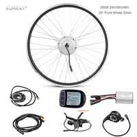 Electric Bicycle Conversion E-Bike Kit, 48V 24V 36V 350W Front Wheel Brushless Hub Motor Electric Bike Ebike Set For 26 inch DIY