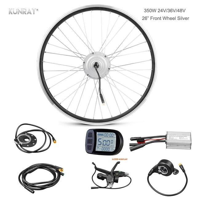 electric bicycle conversion e bike kit  48v 24v 36v 350w front wheel brushless hub motor