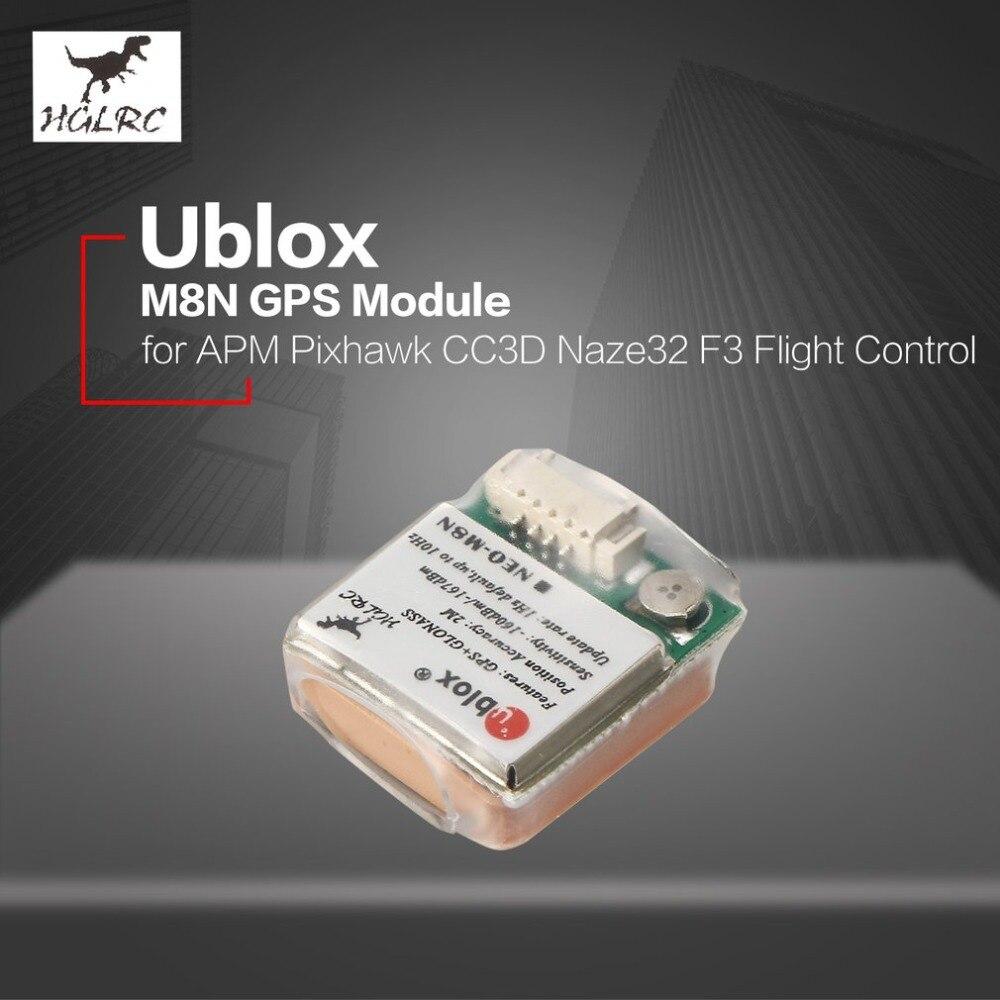 HGLRC 7M/8M Ublox M8N GPS Module For APM Pixhawk CC3D Naze32 F3 Flight Control Controller For RC Camera Drone Accessories Accs ublox 7 series n32 gps module for mini naze32 flight control board for qav250 racing drones