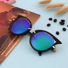 Горячая Ретро Металлический Каркас Sexy Cat Eye Солнцезащитные Очки для Женщин покрытие Марка vintage солнцезащитные очки женский óculos de грау femininos NO1