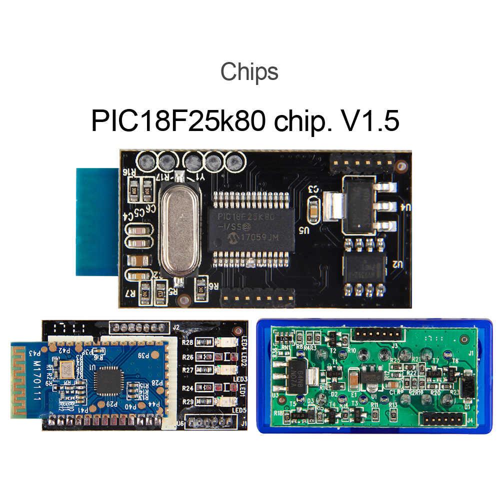 Thật ELM327 V1.5 ELM 327 Bluetooth OBD2 Máy Quét Android Xe Hơi Tự Động Công Cụ Chẩn Đoán Ô Tô OBD 2 OBDII Scaner Tốt Hơn V2.1