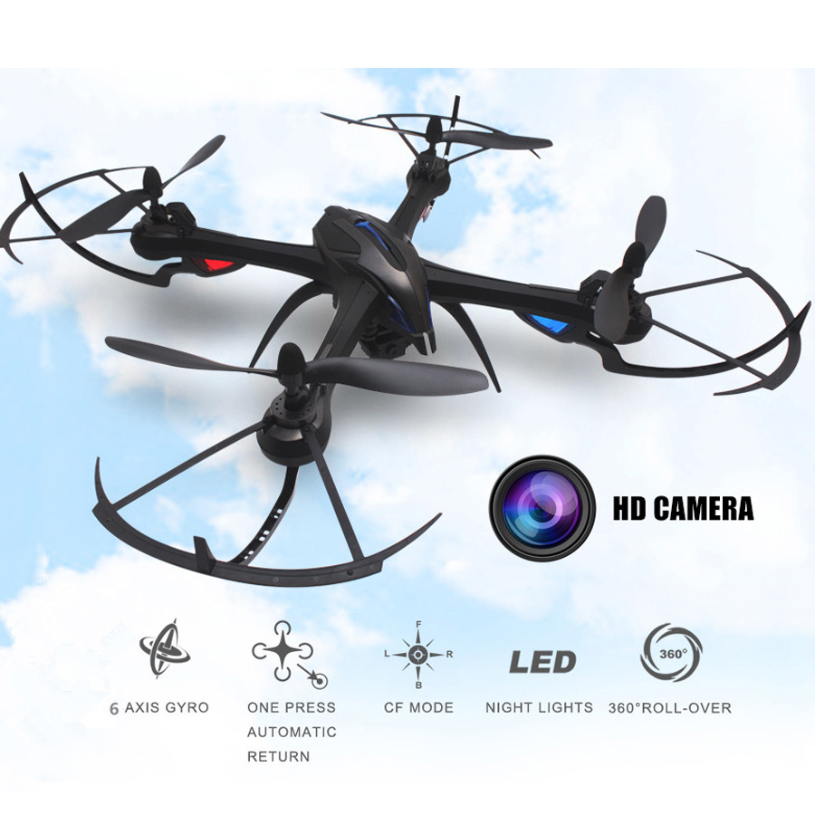 HD Camera RC Drone WiFi Real Time Transmission Gyro RC Quadcopter 2.4GHz 4CH 6 Axis Colorful LED Light Helicopter