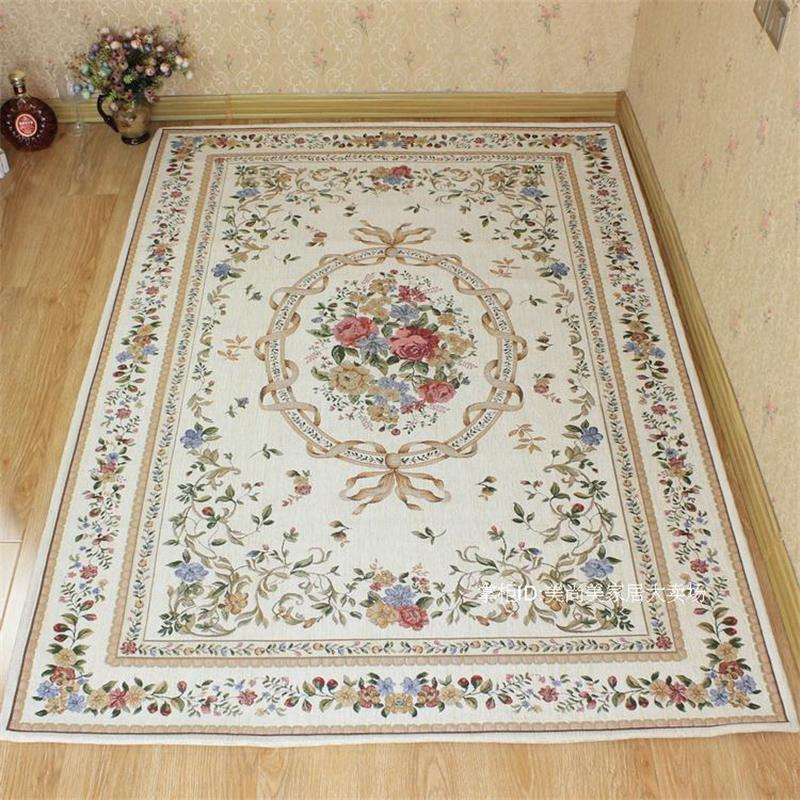 140x200cm Pastoral Countryside Carpets For For Living Room Brief Flower Bedroom