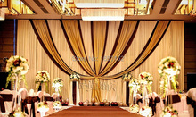 10ft*20ft  Wedding Stage Decoration Party Backdrop for Stage Decoration Wholesale Stage Backdrop with Detachable Swag