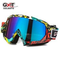 GXT Motocross gogle gogle na motocykl ATV MTB DH wiatroszczelna narty Moto okulary motocyklowe szkło motor terenowy kask osłony obiektywu