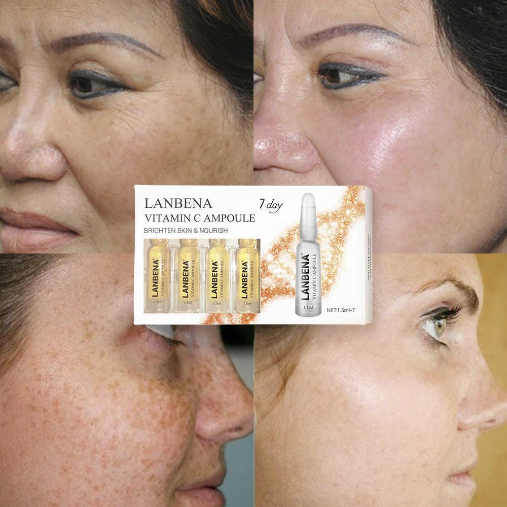 LANBENA Vitamin C Ampoule Serum Whitening Moisturizing Anti-Aging  Nourishing Remover Freckle Speckle Fade Dark Spots Skin Care