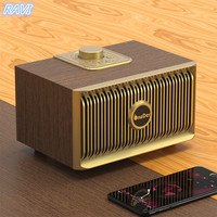 New Magic V5 wooden retro home Bluetooth speaker mobile phone outdoor wireless Bluetooth audio
