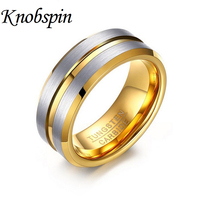 En gros 8 MM Tungsten anneaux Hommes bijoux 2017 nouvelle mode anneaux rainure conception hommes de partie anneaux Haute qualité mâle meilleur cadeau