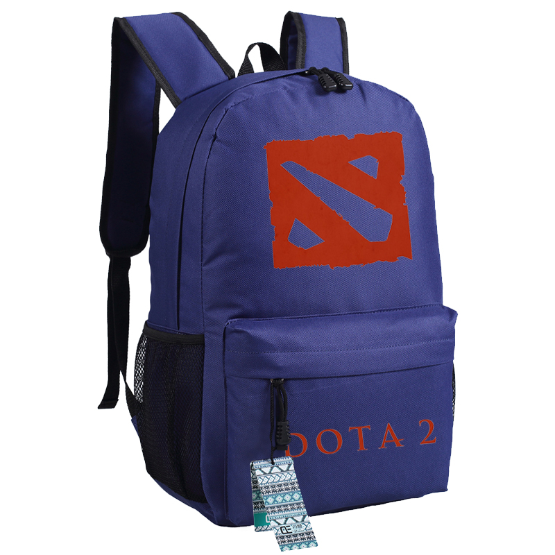High Quality Dota 2 Ti 7 Teenage Printing Backpack Dota 2 Canvas Laptop Backpack Rucksack School Bags For Teenagers