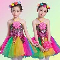 Kızlar için bale dress çocuk kız dans giyim kızlar için çocuklar pul bale kostümleri tutu dans kız sahne giyim