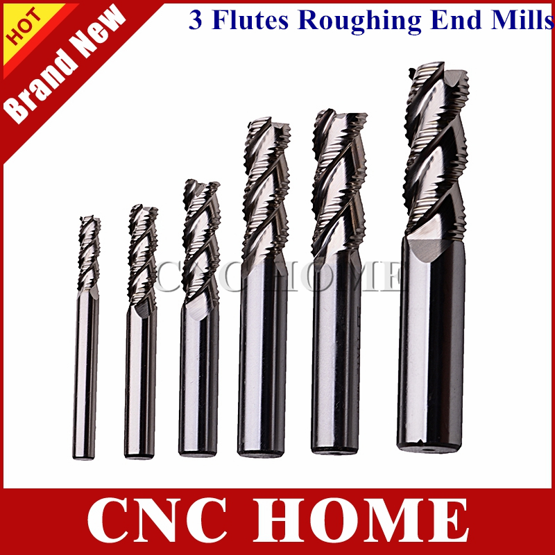 4mm Solid Carbide 3 Flute Roughing End Mill for Aluminium//Endmill