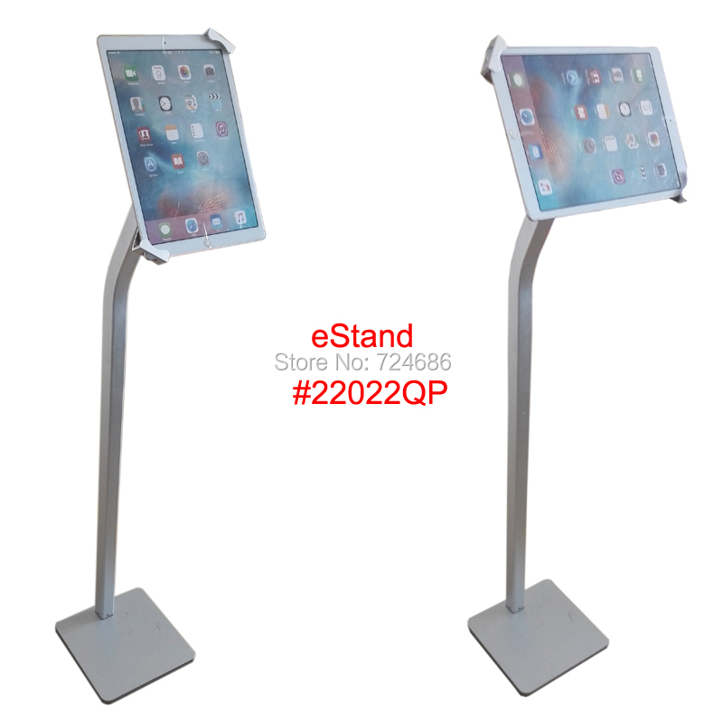 universal 10 to 13 inch tablet security floor stand for iPad pro with lock bracket display kiosk  for Surface pro