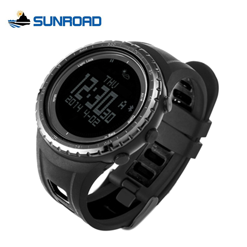 SUNROAD Bluetooth Smart Watch Waterproof Pedometer Thermometer Outdoor Waterproof Compass Watch Digital for font b Android