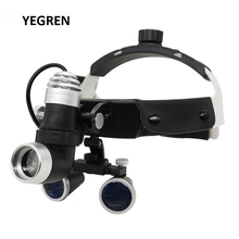 2.5X /3.5X Illuminated Helmet Dental Loupes with Adjustable LED Dental Headlight Binocular Loupe for Medical Surgery Operation 3 5x dental loupes with led headlight 320mm work distance jxkh silver