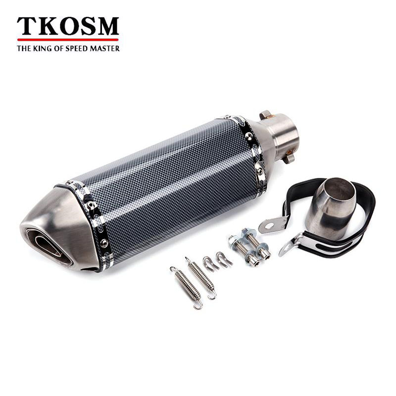 TKOSM-Racing Universal Motorcycle Exhaust Escape Moto Muffler Pipe With Removable DB Killer GY6 CBR125 CB400 CB600 YZF