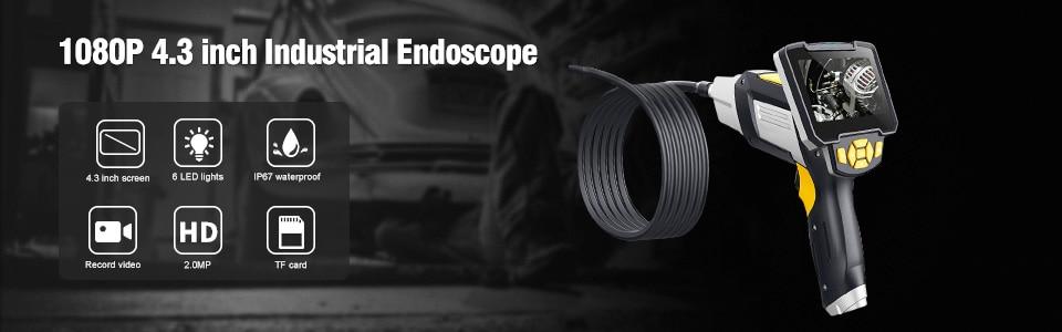 5.5mm Telescoping Wifi Endoscope Camera 1080P HD Semi-Rigid Snake Camera USB Endoscope Borescope IOS Endoscope For Iphone Tablet