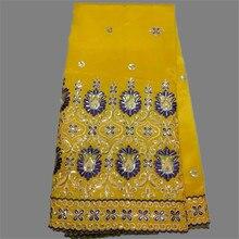 High class gelb party spitze Afrikanischen stickerei george spitze stoff mit pailletten für abendkleid OG42-2multi farbe