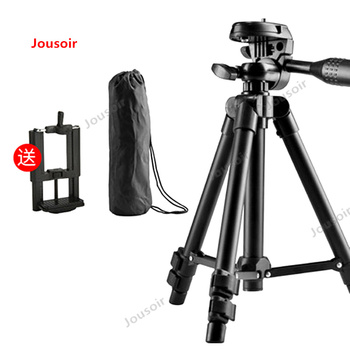 Live phone support apple tripod video camera video take outdoor desktop anchor tripod SLR multifunctional stand CD50 T03