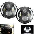 """2x CREE Чипов 7 """"60 Вт СВЕТОДИОДНЫЕ Фары Автомобиля для Jeep CJ/Wrangler JK Дальнего Света для Land Rover Defender H4 H13 LED фары"""