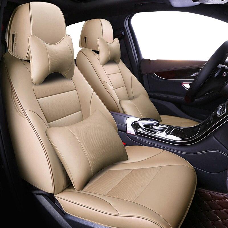 Авто универсальный натуральной кожи сиденья для Prado 120 lifan x60 lancer x chevrolet сиденья автомобиля toyota аксессуары для укладки