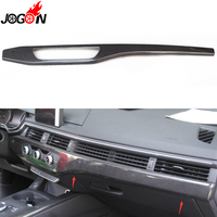 LHD 100% Real Carbon Fiber For Audi A4 B9 8W 2017 Car Interior Center Console Dashboard Air AC Control Switch Strip Cover Trim