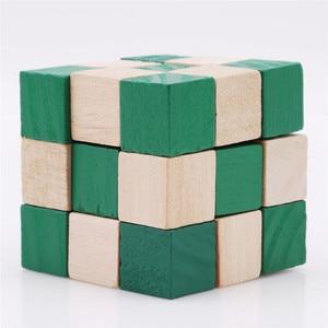 Image 5 - 27 セクション木製の定規ヘビツイストパズルホット販売チャレンジ IQ 脳のおもちゃ古典的なゲーム
