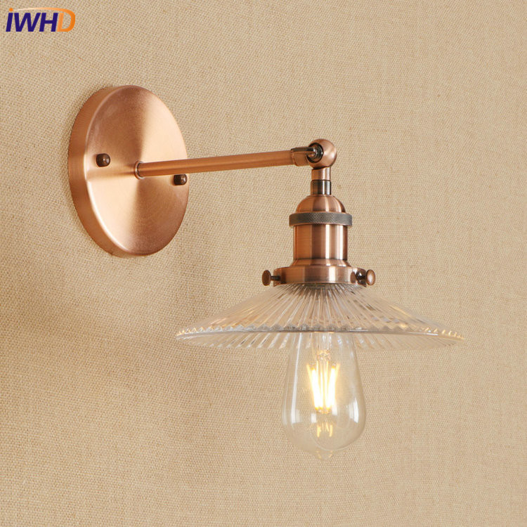 IWHD Nordic Edison LED Wall Lamp Iron Adjustable Loft Wandlamp Glass Bathroom Light Sconce RH Fixtures Applique Murale LuminaireIWHD Nordic Edison LED Wall Lamp Iron Adjustable Loft Wandlamp Glass Bathroom Light Sconce RH Fixtures Applique Murale Luminaire