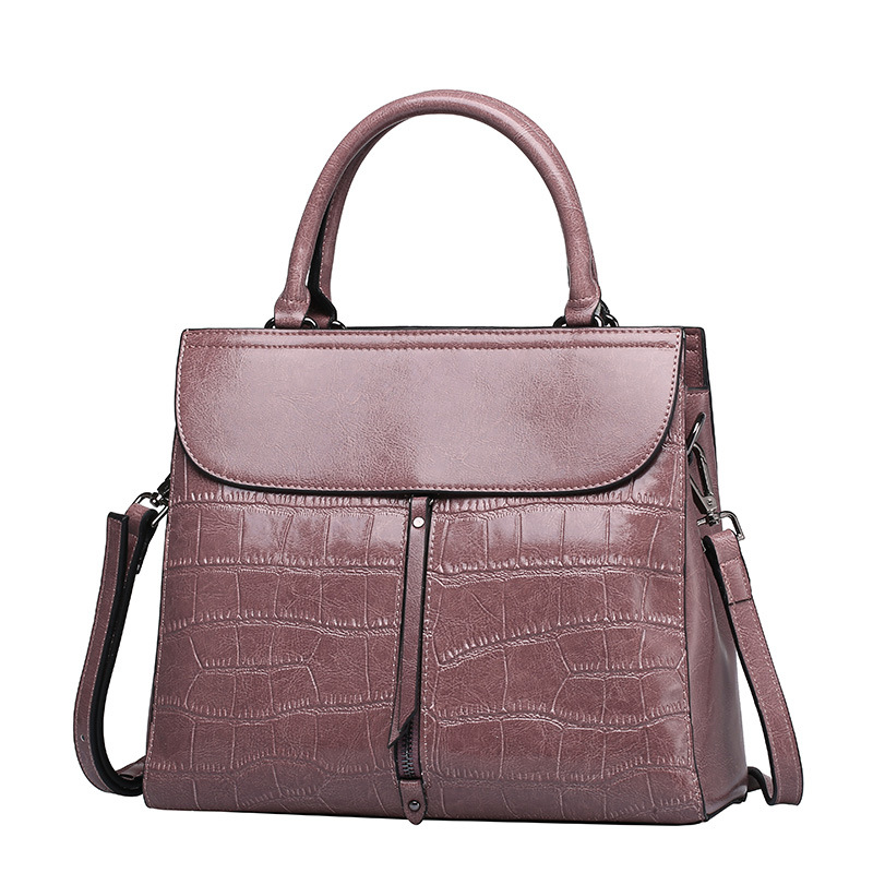 cow leather handbag brand 2018 bolsa feminina new women 100% genuine leather shoulder bag Stone veins bag free Shipping yuanyu 2018 new hot free shipping real python leather women clutch women hand caught bag women bag long snake women day clutches