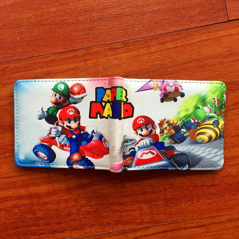 Новый мультфильм Супер Марио кошелек Для женщин Для мужчин Повседневное короткие бумажник тонкий кошелек держатель для карт подростков де...