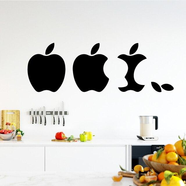 Eaten Apple Wall Art Decal Wall Art Sticker Murals Home Decoration ...