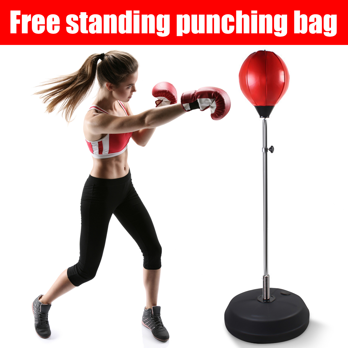 Adjustable Free Standing Punching Speedball Fitness Boxing