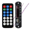 Mini MP3 Decoder Board Hitam Remote SD MP3 Player Ztv-m011 Remote Control Module FM USB 2.0 3.5mm keluar jack