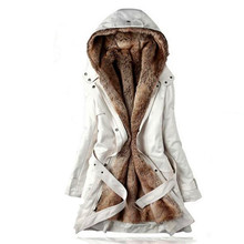 2017 Europe and USA autumn winters fashionable plus-size women's hooded coat/Thickening of the warm long cotton-padded clothes