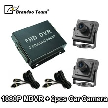Vehicle DVR Mdvr-Kit Ahd-Cameras Mini 1080P FHD 2 with for Taxi 2ch