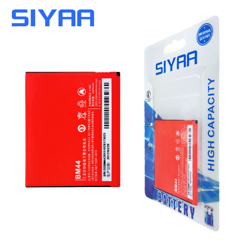 SIYAA Original BM44 Xiao Mi Battery For Xiaomi 2 Redmi 2 Hongmi 2 Replacement Battery High Capacity 2200mAh Li-ion Bateria
