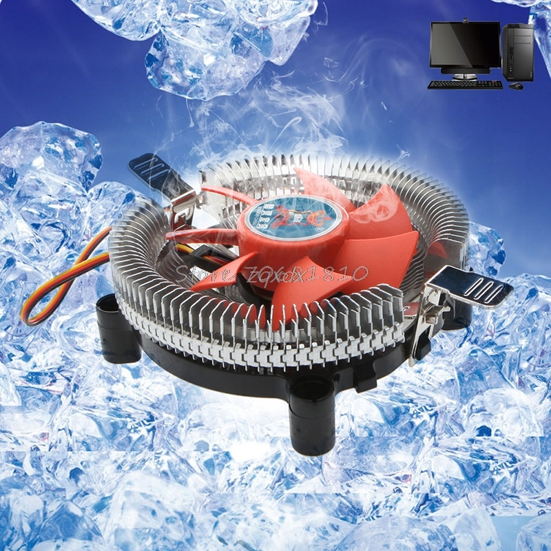 2200rpm CPU Quiet Fan Cooler Cooling Heatsink For Intel LGA775/1155 AM2/3 Z09 Drop ship fast free ship for intel 1155 1156 1150 i3i5 cpu pure copper core radiator square cooling fin thickness 35mm cooler heatsink