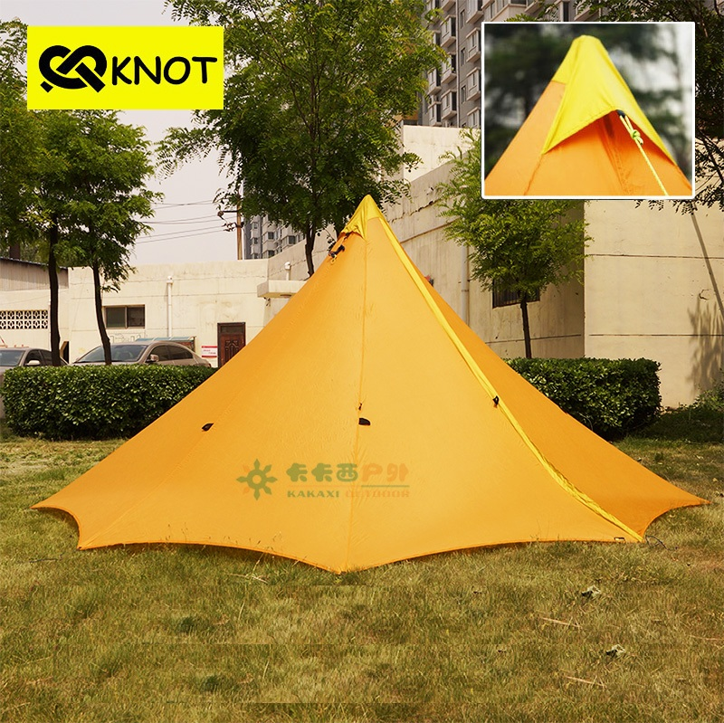 4 Person Ultrlight Camping Tent barraca camping Tents 20D Both Sides Silicone Large Camp tente 860g