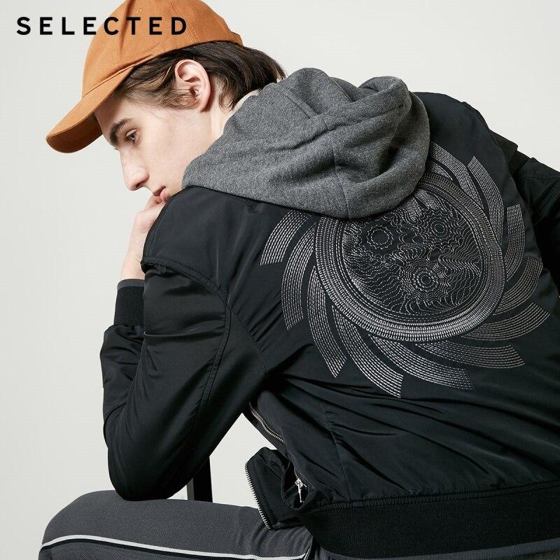SELEZIONATO con cappuccio dei nuovi uomini del ricamo di modo giacca casual C  4191OM528-in Giacche da Abbigliamento da uomo su  Gruppo 2