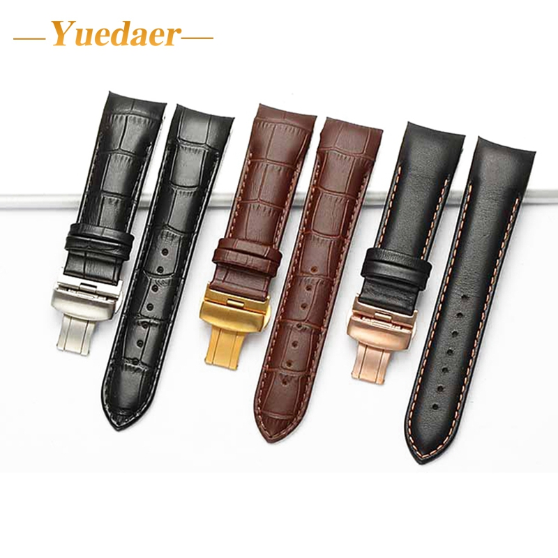 Yuedaer wrist strap for Xiaomi huami amazfit strap 18-22mm Leather watch band for huami amazifit Wristband correa relo