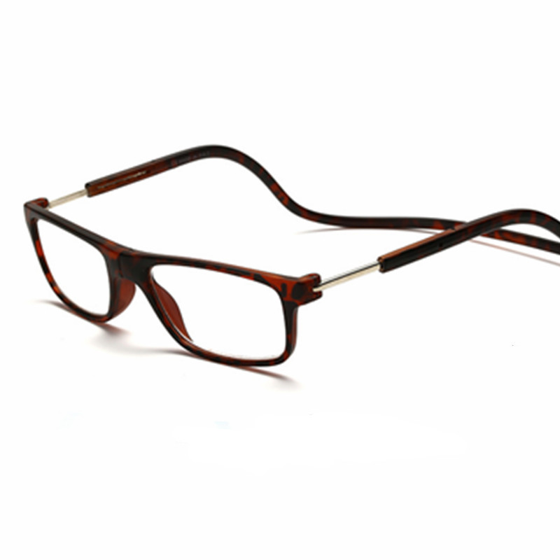 Mix Fashion New Magnetic Reading Glasses Click Hang Around Never Loose again +1.0 1.5 2.0 2.5 3.0 3.5 4.0 neck wear  glasses 05