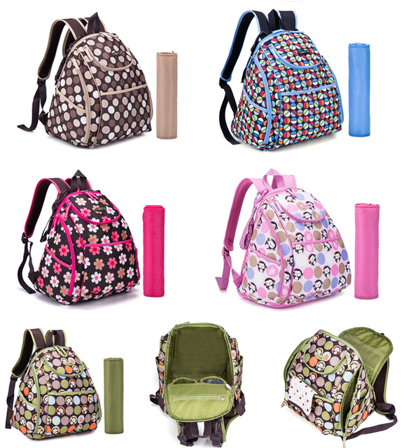 Colorland Smart Cute Backpack Diaper Bag Baby Ny Changing With Pad Stroller Straps