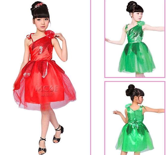Free shipping.Children Latin ballet dress .leaves, Children wedding dress,suitable for belly,rumba,folk,ballet, cha-cha