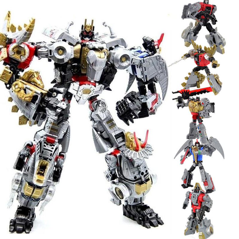 5 in 1 Oversize NBK Anime Devastator Model Toys Transformation Action Figure Robot Dinosaur Model KO