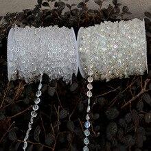 Decoración de la boda 30 M DIY Acrílico Crystal Beads Strand Garland Diamond Shimmer