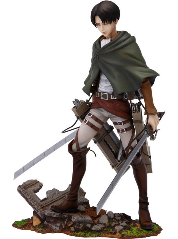 Japanese Anime Shingeki No Kyojin Attack On Titan Levi Rivaille 25cm PVC Action Figure Brinquedos Kids Toys Anime Figure attack on titan anime 17 cm mikasa ackerman battle version pvc anime figure collection doll model toy kids toys pm scene tw18