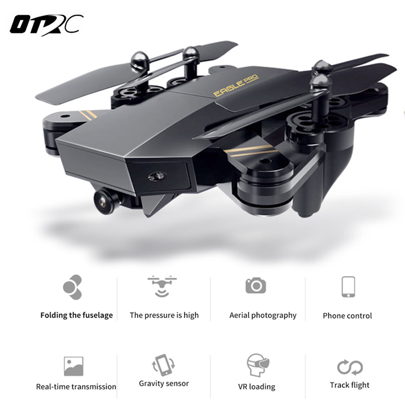 OTRC S9 RC Drone XS809HW Mini Foldable Selfie Drone with Wifi FPV 0.3MP or 2MP Camera Altitude Hold Quadcopter xs809w mini foldable drone rc selfie drone with wifi fpv hd camera headless mode rc quadcopter drone portable model