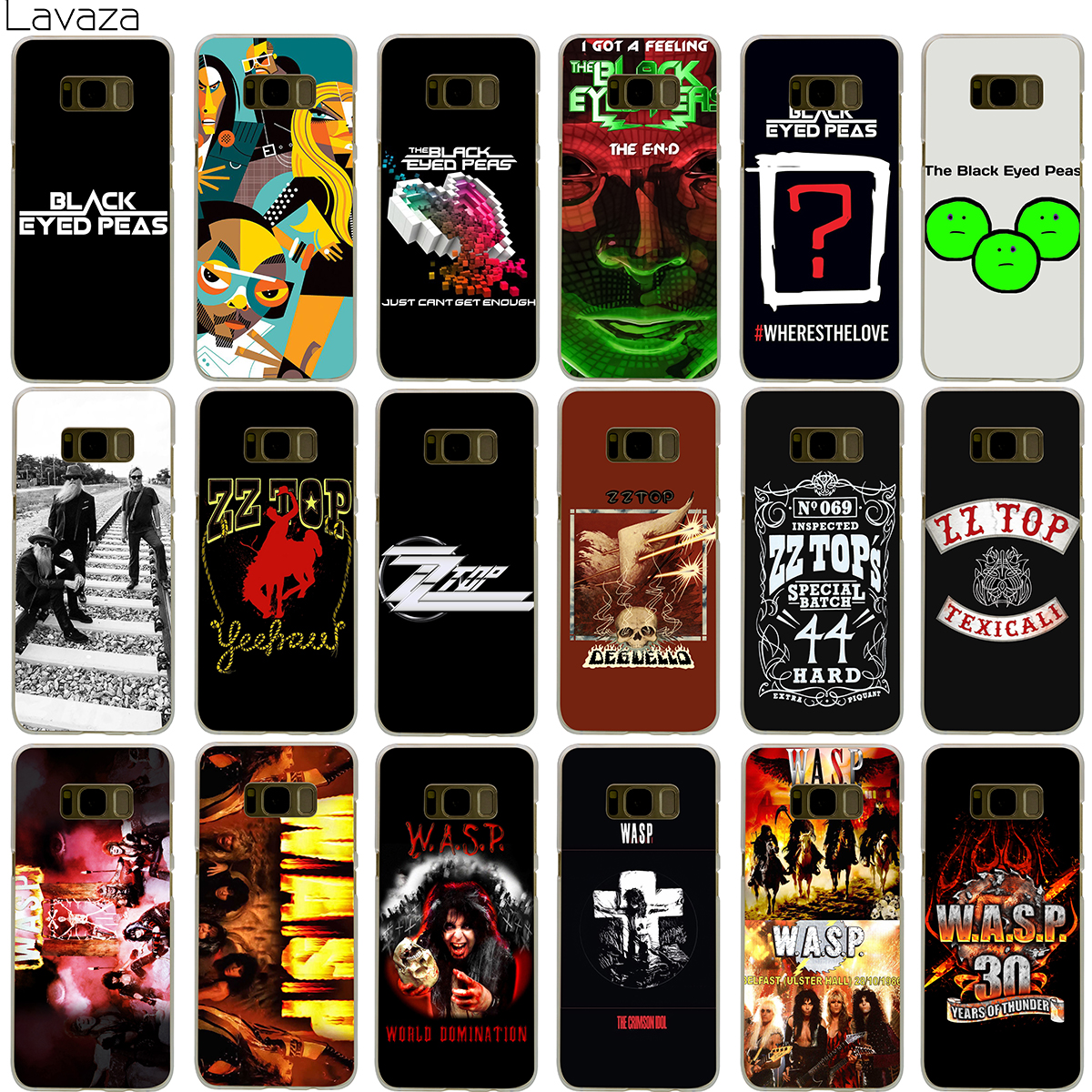 Lavaza The Black Eyed Peas ZZ Top W.A.S.P Band Case for Samsung Galaxy S5 S6 S7 Edge S9 S8 Plus