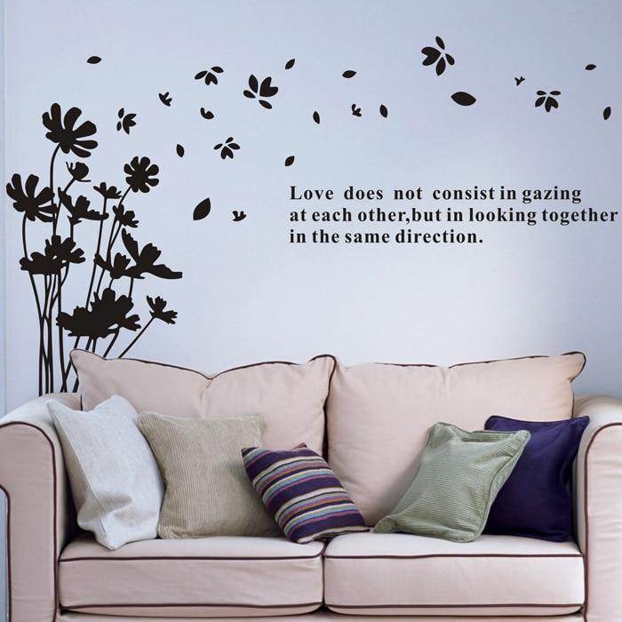 Pryč s okvětními lístky ložnice Obývací pokoj Televizní stěna Pastorální scenérie tapeta