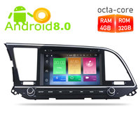 4G RAM Android 8.0 Car Radio GPS Navigation Multimedia Stereo DVD Player For HYUNDAI ELANTRA 2016 2017 Auto Video Headunit